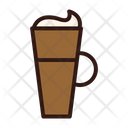 Cold Coffee Cream Glass Icon