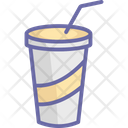 Disposable Cold Coffee Disposable Cup Icon