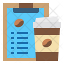 Clipboard Coffee Cup Hot Drink Icon