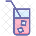 Cold Drink Glass Ice Icon
