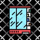 Supermarket Refrigerator Color Icon