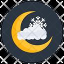 Cold Night Nighttime Night Sky Icon