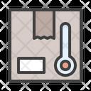Cold Storage Box Transportation Icon
