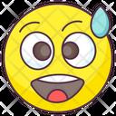 Cold Sweat Emoji Icon