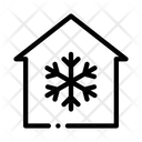 Building Snowflake Cooling Icon