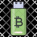 Usb Flash Bitcoin Icon