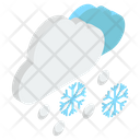 Downpour Snowstorm Blizzard Weather Icon