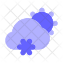 Cold Weather Snow Cloud Icon