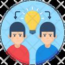 Sharing Idea Idea Collaborate Concept Sharing Icon