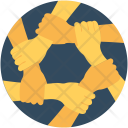 Collaboration Hands Business Icon