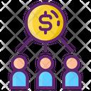 Collaboration Charity Donation Icon