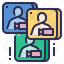Collaboration Apps Meeting Conference Icon