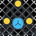 Collaborative Innovation Network Collaborative Communication Icon