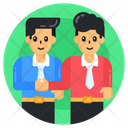 Teammates Employees Colleague Friends Icon