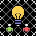 Colleagues Idea Color Icon