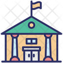 College Educational Building Library Icon