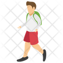 College Going College Student Teenager Icon