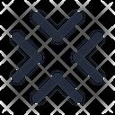Chevron Collpase Diagonal Icon