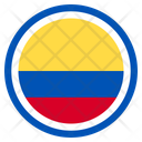 Colombia Country National Icon