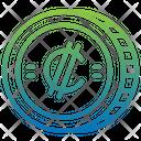 Colon Coin Icon