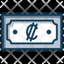 Colon Currency Colon Money Paper Money Icon