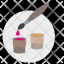 Brush Paint Color Icon