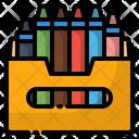 Color Crayon Drawing Icon