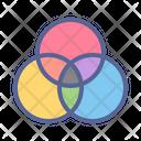 Gradient Mixer Wheel Icon