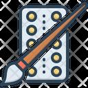 Color Color Plate Brush Icon