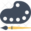 Color Plate Brush Icon