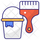 Color Bucket Paint Bucket Paint Icon