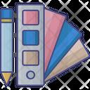 Color Chart Pencil Chart Color Paper Icon