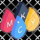 Paint Drops Color Drops Cmyk Drops Icon