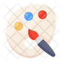 Color Paints Water Colors Paint Tray Icon
