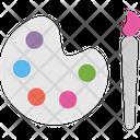 Palette Color Palette Paint Brush Icon