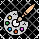 Palette Paint Art Icon