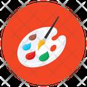 Paint Palette Water Color Color Palette Icon