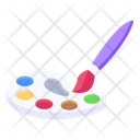 Color Palette Water Color Painting Icon