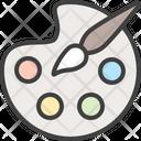 Palette Art Brush Icon