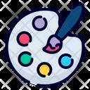 Color Artistic Palette Icon