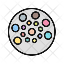 Color Pallete Ornament Icon