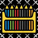 Color Pencil Crayon Drawing Pencil Icon