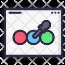 Color Picker Website Webpage Icon