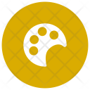 Plate Paint Brush Icon