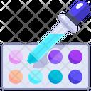 Color Platter Pipette Pipette Icon