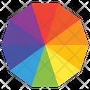 Color Wheel Swatch Pantone Icon