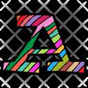 Colored english alphabet A Icon