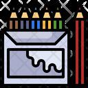 Colored Pencils Color Box Drawing Pencils Icon