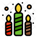 Colorful Candles Icon