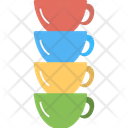 Colorful Cups Icon